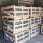 pallets of slate roofing tiles