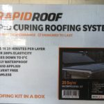 rapid curing roofing system